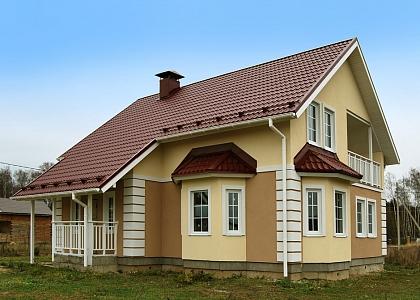 загородный дом фасад цсп