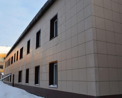 офисное здание вентфасад