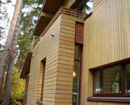 вентилируемый фасад из дерева