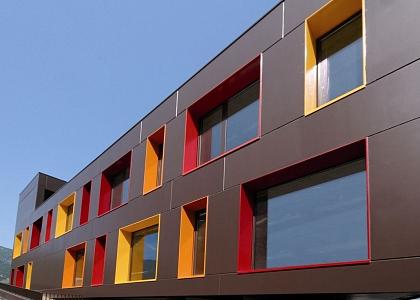 Вентилируемый фасад из алюминиевых панелей заказать