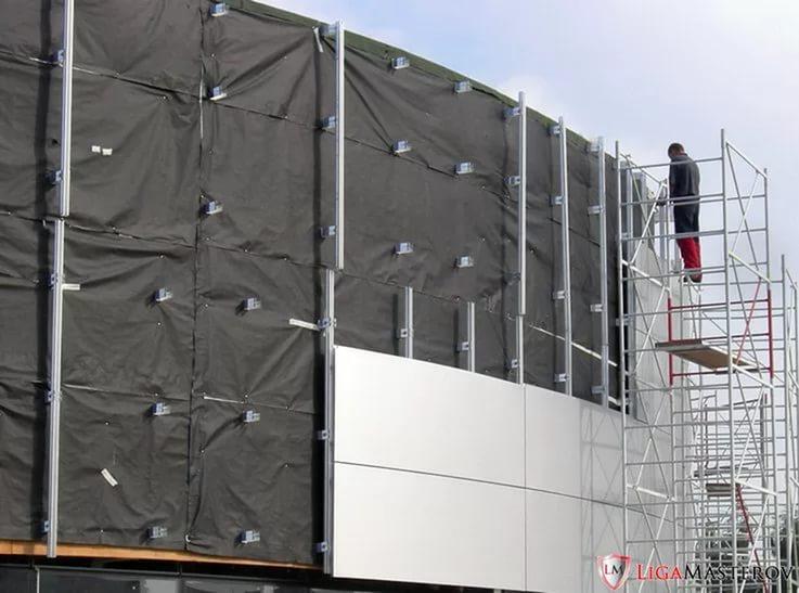 Демонтаж вентилируемого фасада