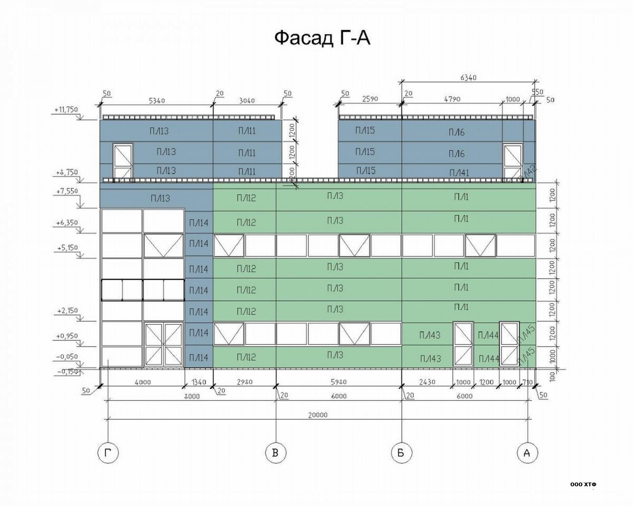 Проектирование вентилируемых фасадов раскладка