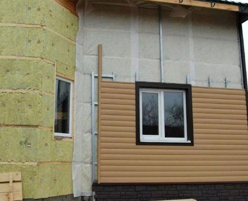 вентилируемый фасад каркасного дома